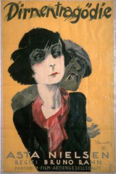 By Josef Fenneker (1895-1956), 1927, Dirnentragödie with actress Asta Nielsen. (G)