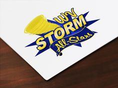 West Virginia Storm All-Stars Cheerleading logo by PylesDesign • www.pylesdesign.net
