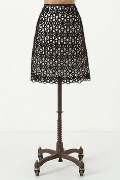 Dilated Lace Skirt | Anthropologie | Quality made with heavy lace fabric overlay. Nice with a silk shirt.