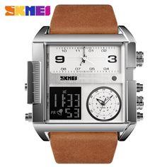 59925d4c3 Men Wrist Watch Luxury Brand Military shape