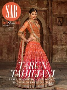 Tarun Tahiliani Red & Orange Lengha