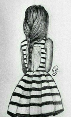 Uploaded by Annie wow. Find images and videos about girl, drawing and dress on We Heart It - the app to get lost in what you love. Amazing Drawings, Love Drawings, Beautiful Drawings, Amazing Art, Hipster Drawings, Cute Drawings Of People, Sketches Of People, Pencil Art Drawings, Art Drawings Sketches