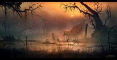 The swamp witch, Vladimir Manyukhin on ArtStation at https://www.artstation.com/artwork/oZDlO