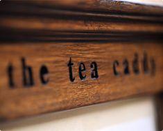 The tea caddy...