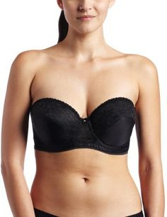 Carnival Womens Full Figure Lace Bandeau Bra Carnival. $14.73. Full coverage cups. Hand wash. Full figure cut. Strapless bra. 53% rayon/47% polyester