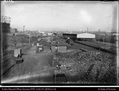 The former Goods Station in what is today Edinburgh Gardens, looking south, Exhibition Building at right rear. Left is the former Fitzroy Gasworks. Melbourne Suburbs, Exhibition Building, What Is Today, Melbourne Victoria, Inner Circle, Edinburgh, Beautiful Images, Old Photos, 1920s