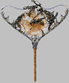 lalique bijoux - Epingle à chapeau Guèpe 1899/1900