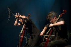 Luka Sulic & Stjepan Hauser (2Cellos) bwahahaha this is fantastic