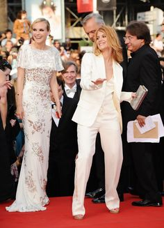 Diane Kruger and Melanie Laurent attends the Inglourious Basterds Premiere held at the Palais Des Festivals during the 62nd International Cannes Film Festival on May 20th, 2009 in Cannes, France