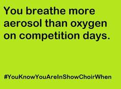 #YouKnowYouAreInShowChoirWhen #ShowChoir