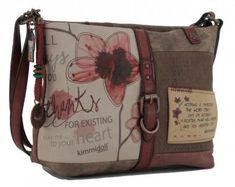 kimmidoll Umhängetasche Stickerei Blätter Anhänger - Bags & more Messenger Bag, Satchel, Bags, Style, Embroidery, Handbags, Swag, Crossbody Bag, Bag