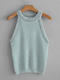 Solid Knit Top   SHEIN
