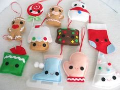 Cute Craft Tutorials, Handmade Toys, Printable Crafts, Kawaii Plush by Fantastic Toys: Christmas
