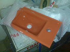 Arvex L-35 Bathroom Basins, 450mm w X 260mm d X 12 mm h, in molten crystal glass
