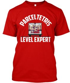 Parcel Stacking Expert   Mail Carrier Classic Red T-Shirt Front