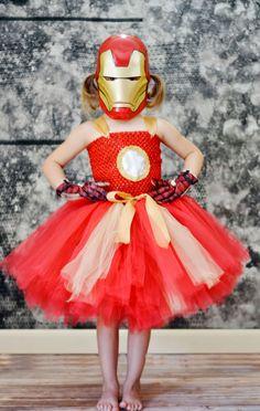 Girl Ironman Costume....Ironman Tutu by TutullyCuteDesigns on Etsy