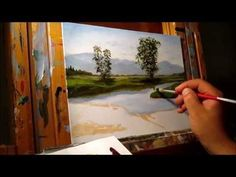 Green Meadows Demonstration - Basic Traditional Landscape Oil Painting Tutorial - YouTube