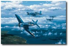 AVIATION ART HANGAR - Black Sheep Over Rabaul by Stan Stokes (F4U)