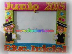 Marco Decorado: Graduación Rainbow Crafts, Graduation Day, Corpus Christi, Box Frames, Classroom Decor, Photo Booth, Projects To Try, Banner, School