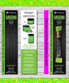 GREENS ON THE GO! Greens increase your energy level also improves your immune system! has 8️⃣➕ servings of fruits  and veggie. Greens on the go are so convenient to use, you can fit them in you're purse or in the Gym bag, even in your desk at work want more information on any of our it works products. Check out my website wrapsbybeth.itworks.com