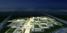 gmp architekten's third prize proposal for noble quran oasis in medina