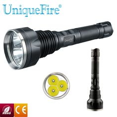 (42.74$)  Watch here - http://aie5a.worlditems.win/all/product.php?id=32442917331 - Uniqurfire 3800LM UF-818D Cree T63 Led High Power Flashlight 5 Mode Black Torch for 3*18650 Rechargeable Battery Shockproof