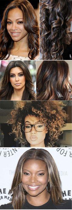 Confira várias fotos de cabelos com luzes para inspirar quem está pensando em mudar um pouco o visual - tem para todas as cores e tipos de cabelo.
