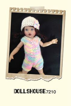 "Hand Knitted 2 Pieces outfit for 7.5-8"" Kish Riley Helen Kish,Tonner BJD 