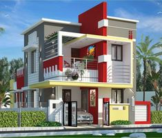 Stanch Properties is a construction company with diversified operations in to General and Industrial Civil contracts Bungalow House Design, House Front Design, Duplex House, Modern House Design, Front Elevation Designs, House Elevation, Independent House, Facade House, House Facades