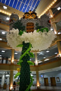this is what the rest of the balloon beanstalk looked like... VERY Tall Tale of Jack & His Beanstalk… Now at the Sibley Building