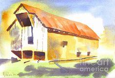 Missouri Barn 2 in Watercolor.