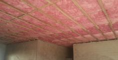 think pink aerolite insulation installed. Fiberglass
