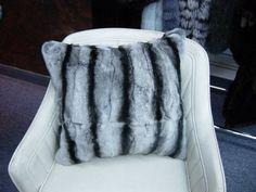 CHINCHILLA FUR PILLOW Fur Pillow, Pillows, Chinchilla Fur, Fur Blanket, Fox Fur, Nautical, Fur Coat, Plush, Cozy