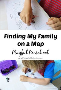 Explore your family by helping your preschooler find family members on the map! #playfulpreschool