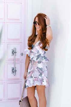 fdb695f60f02 A tropical pink dress at the famous pink door in palm springs... DRESS