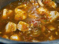 A comer y a callar: ARROZ CON POLLO CON THERMOMIX Chili, Soup, Arroz Con Pollo, Chile, Soups, Chilis