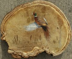 pheasant painting on a conk