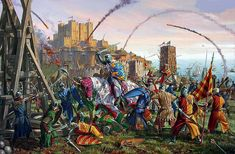 """The Army of French Prince Louis lays siege to Dover Castle, 1216"""