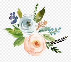 Fine Watercolor Flower Transparent - Watercolor Flowers Transparent Png Clipart - Gardening for beginners and gardening ideas tips kids Watercolor Flowers Tutorial, Easy Watercolor, Floral Watercolor, Watercolor Paintings, Watercolour, Leaves Illustration, Flower Png Images, Transparent Flowers, Watercolor Stickers