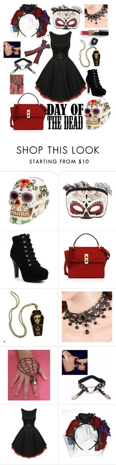 """Day of the Dead"" by tootie-wear ❤ liked on Polyvore featuring Masquerade, Chanel, Henri Bendel and Dayofthedead"