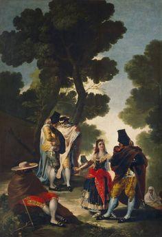 Goya en El Prado: El paseo de Andalucía, o La maja y los embozados