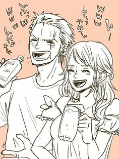 Zoro and Nami; I like their friendship One Piece Comic, Anime One Piece, One Piece Ship, One Piece World, One Piece Fanart, Zoro Nami, Roronoa Zoro, Anime Chibi, Manga Anime