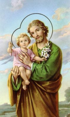"Novena to St. Joseph. Feast day March 19th. ""Oh, St. Joseph, whose protection is so great, so strong, so prompt before the throne of God, I place in you all my interest and desires. Oh, St. Joseph, do assist me by your powerful intercession, and obtain for me from your divine Son all spiritual blessings, through Jesus Christ, our Lord. So that, having engaged by your heavenly power, I may offer my thanksgiving and homage to the most loving of Fathers. Oh, St. Joseph, I never weary....."