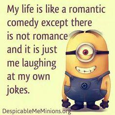 Minions quotes, minions и minion jokes. Minion Jokes, Minions Quotes, Funny Minion, Cute Quotes, Funny Quotes, Grumpy Cat Quotes, Single Humor, Divorce Humor, Funny Me