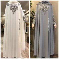 Photo by Yasemin Deşat on September Abaya Designs Latest, Abaya Designs Dubai, Niqab Fashion, Muslim Fashion, Fashion Outfits, Habits Musulmans, Abaya Mode, Hijab Style Dress, Hijab Chic