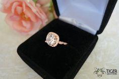 Size 4-10: 2.25 Carat Halo Engagement Ring Man by TigerGemstones