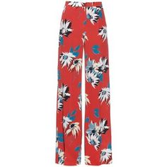 Etro Floral-print silk-crepe wide-leg trousers