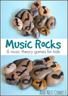 DIY music rocks and 5 music theory games to play from And Next Comes L