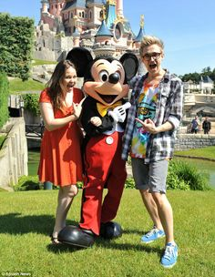 Tom Fletcher and Giovanna Fletcher at Disneyland Paris with fellow McBusted members!