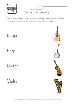 48 FREE ESL instruments worksheets